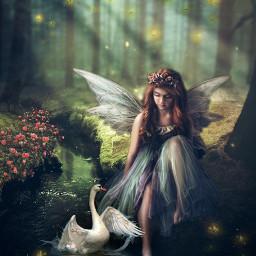 freetoedit mystical fairy enchantedforest