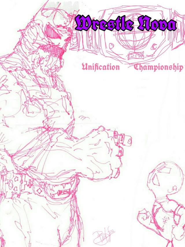 This is a sketch of the two main Rivals for season 3 of world-class. King astaroth is the demon League champion, having held the strap for 10 years. Our hero, Super Konquesa is the champion for super world class wrestling. The two of them Clash at the end of the season to unify the belts. The plan is to have this season Focus on putting and her other friends, as they become forces to reckon with. And also a romance between Friar Bryer and an unnamed character. #cartoon #concept #art #sketch #drawing #pudding #wrestling #comic #superhero #freetoedit