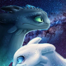 freetoedit toothless white black galaxy ircpurplegalaxy