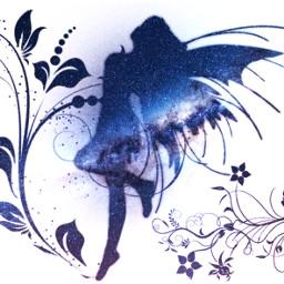 freetoedit fairy flowers ircpurplegalaxy purplegalaxy