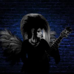 freetoedit rocker girl guitarist woman srccarnavalwings