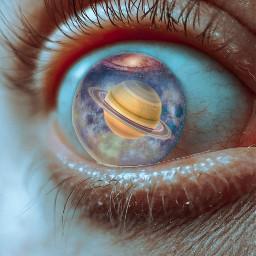 freetoedit eye saturn galaxy