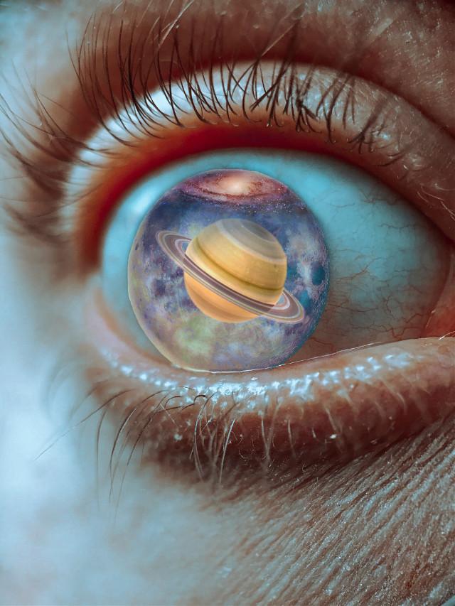 #freetoedit #eye #saturn #galaxy