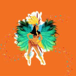 freetoedit girl orange carnaval karnaval eccarnival