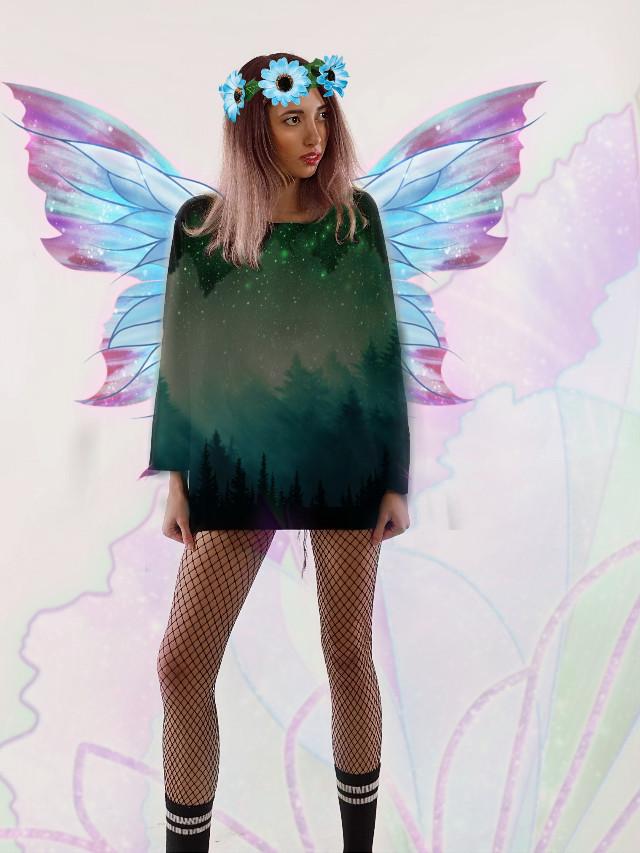 #freetoedit #fairy #wings #pink #blue #girl #fairytale