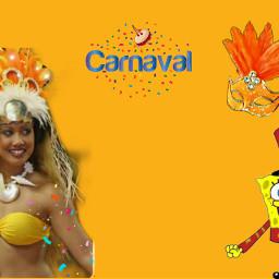 freetoedit carnaval spangebob mask likeforfollow eccarnival