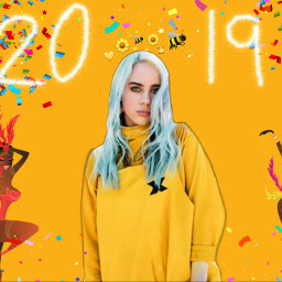 freetoedit billieeilish billieeilishedits yellow arthoe eccarnival