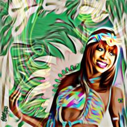 freetoedit greenmagiceffect feather carnavalmakeup remixit irccarnavalmakeover