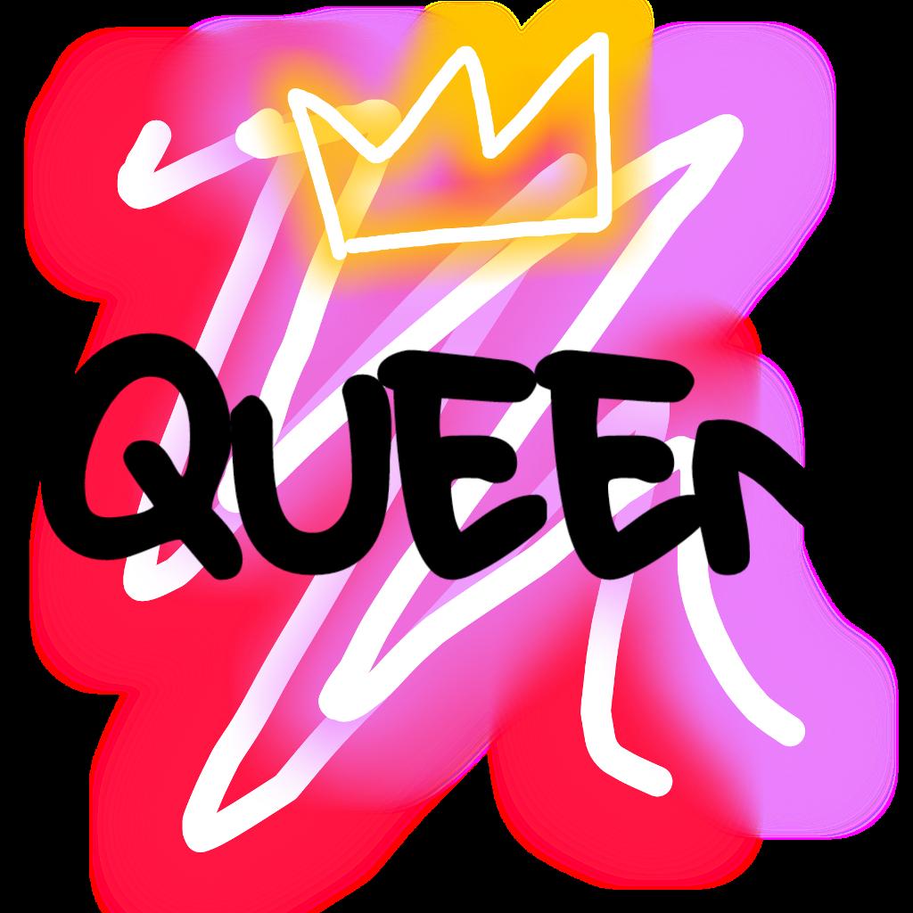Neon queen crown queencrown neonqueen neoneffect neonsticker queens