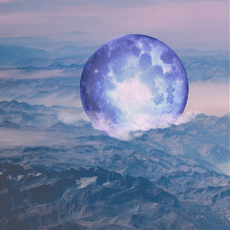 freetoedit mountains moon backgrounds colorgradient