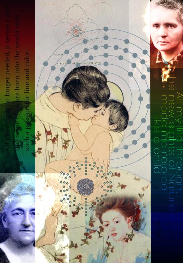 #freetoedit  #ecfiercewomen #fiercewomen Mary Cassatt and Marie Curie