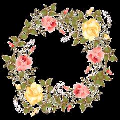 aesthetic circle circleframe frame floral freetoedit