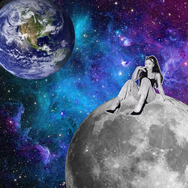 #moon #earth #arianagrande