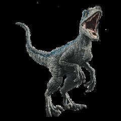 blue raptor dinosaur freetoedit