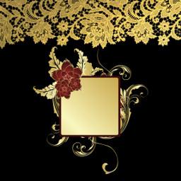 freetoedit gold backgroud frame flower