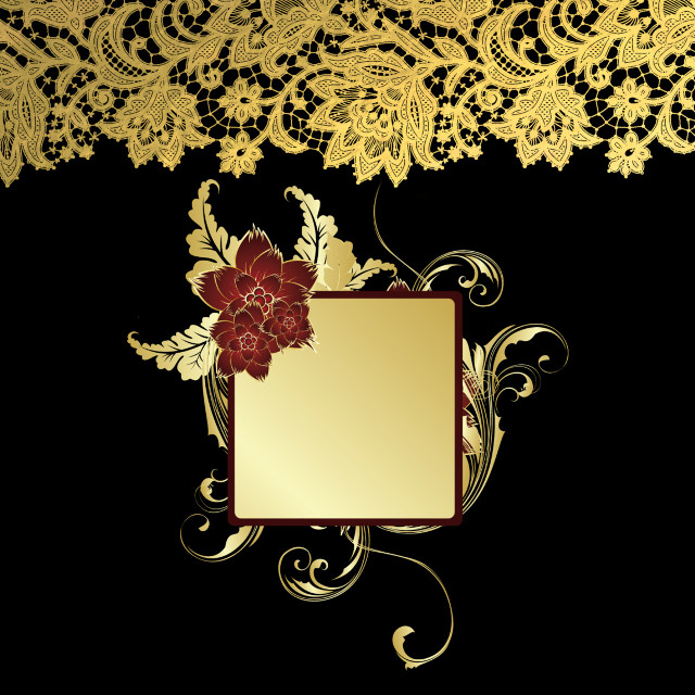 #freetoedit #gold #backgroud #frame #flower #sparkle