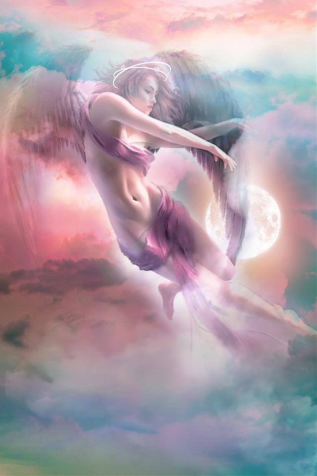 #freetoedit #fantasyart #angel  #clouds #skylovers #colorful #pastelcolors #aestheticedit #stickerart #blending #mil4 #picsarteffects #editstepbystep #myedit #madewithpicsart