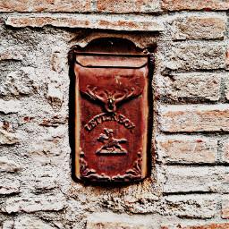 mailbox rusty rustymemories italy bricks