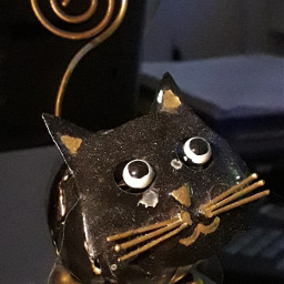 decoration metalic metalsculpture cat