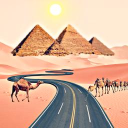 freetoedit desafiopicsart picsart desert piramides srcspringroadtrip road