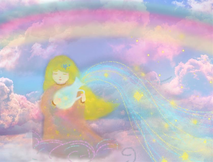 #freetoedit #fantasyart #fairytalebackgrounds  #fairy #angel #skylovers #cloudporn #dreamy #colorful #pastelaesthetic #stickerart #hdr1 #adjusttools #blending #editstepbystep #myedit #madewithpicsart