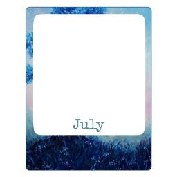 freetoedit july month polaroid frame
