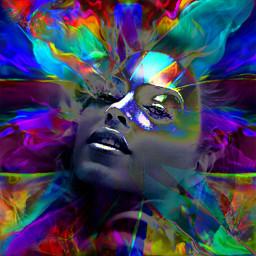 myoriginalwork originalart womanportrait conceptualart colorful eccolorsplasheffect