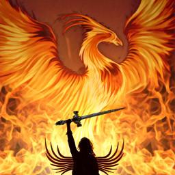 freetoedit fire phoenix sword ircgirlpower