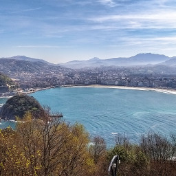 donostia sansebastian beach town landscape freetoedit
