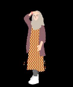 girl hijab outfit freetoedit
