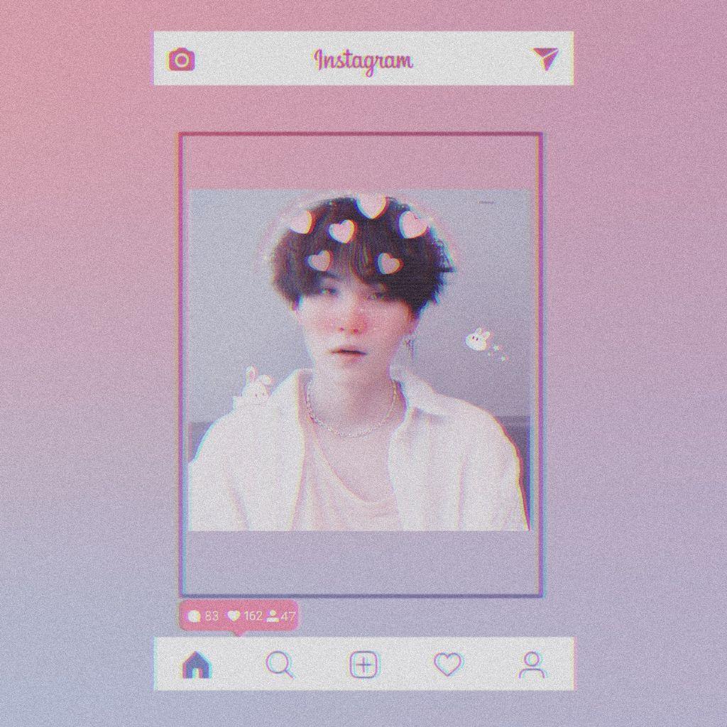 #freetoedit #suga #BTS #pink #blue #purple #instagram