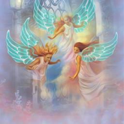 freetoedit angels wings blue fantasy srcwings