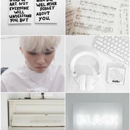 yoongi white aesthetic