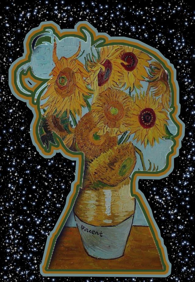 #freetoedit #art #vangogh #sunflower