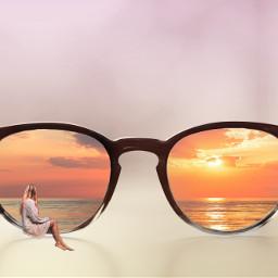 freetoedit sunglasses woman womansitting sitting