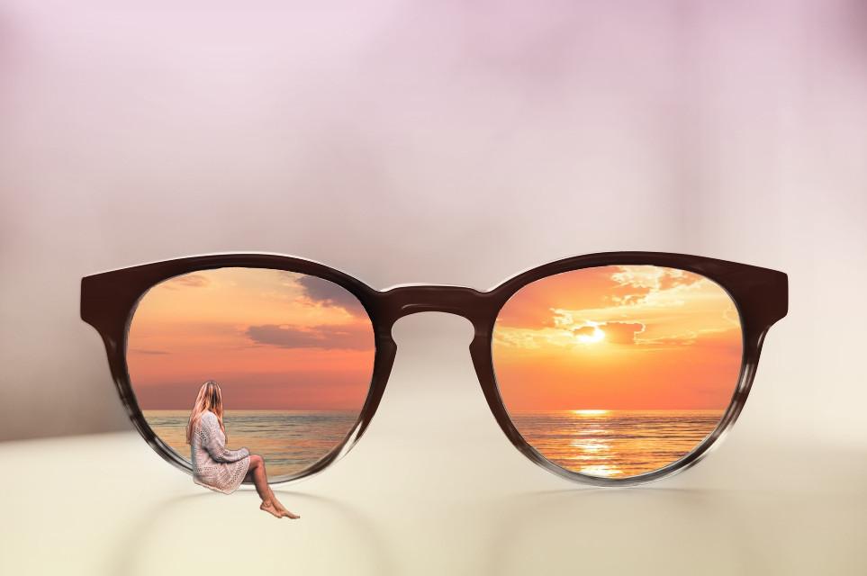 #freetoedit #sunglasses #woman #womansitting #sitting #sunset #sun #glasses #remix #edit