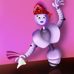 freetoedit robots cleaning dusting bandana dcrobots
