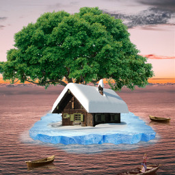 freetoedit boat house island iceberg