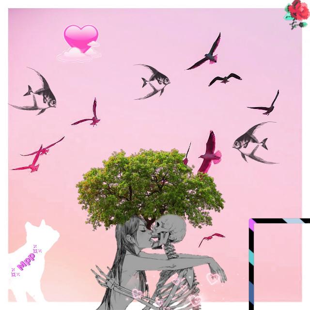 #freetoedit #жизнь #смерть #поцелуй #kisses #птицы #рыы #flowers #рыбы #fish