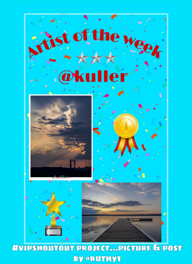 #vipshoutout Project Artist of the Week photography gallery is @kuller  Picture URLs: 1.  🌤☁️☁️ https://picsart.com/i/270507950012201 2.  🌅 pier https://picsart.com/i/244716027002201 Project picture made and posted by @ruthy1   #nofeature  #freetoedit