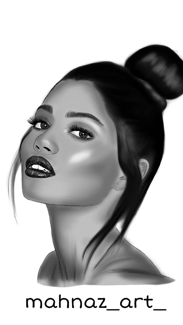 Work in progress part 3 .not finished😊 #digitalart #digitalpainting  #digitaldrawing #digitalartworks #digitalsketch #digitalart #eyes#lip#cool#girl#blackandwhite#nice#sexy#aryy#artistic#illustration  #freetoedit  #freetoedit #freetoedit   #freetoedit