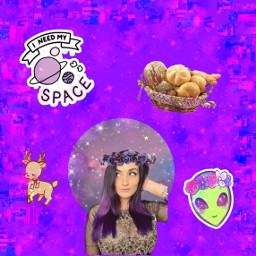 freetoedit youtuber laurenzside deerqueen purple