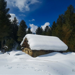 snow springtime blueskyandclouds myownphotography