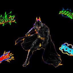 freetoedit neoneffect batman