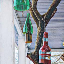 hazemagiceffect madebyme bottles freetoedit windchimes