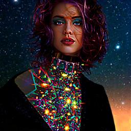 freetoedit myoriginalwork originalart womanportrait conceptualart ircstarrysky