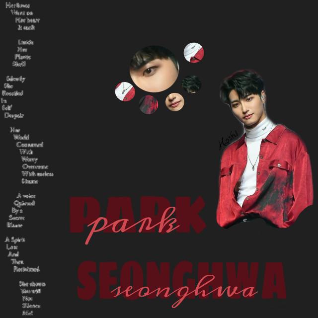 {🍓} 020419                     Happy bday Seonghwa ♡                                Stan ateez ,,,  Thanks to: @astrooniezzz / @sakura_gb567 567 for the repost ♡  Tags  #freetoedit #ParkSeonghwa #Seonghwa #Brown #Red #HappySeonghwaDay  #StanAteez #Ateez