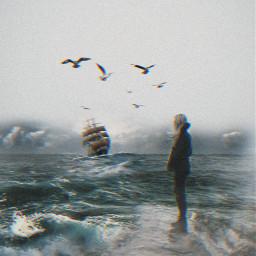 freetoedit ship sea grungeeffect ircfoggyday