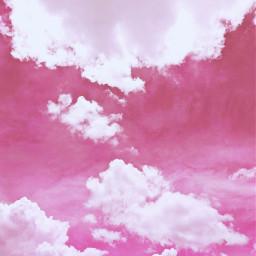freetoedit pink sky nature clouds