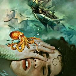 freetoedit underthesea merman ship octopus scales ircbathtime